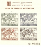 Stamps : Europe : Spain :  FOYER DU FRANCAIS ANTIFASCISTE