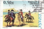 Sellos de Europa - España -  Bicentenari de la reincorporació de Menorca a la corona espanyola 1802-2002     (J)