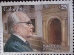 Stamps of the world : Colombia :  Rafael Maya .-Poeta y Crítico