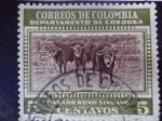 Stamps Colombia -  Ganado Romo Sinuano-Departamento de Córdoba