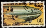 Stamps Africa - Djibouti -  D-LZ 127 Graf Zeppelin 1928. Egypte Avril 1931