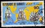 Stamps Africa - Djibouti -  Les 3 Voyages de James Cook