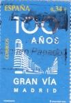 Stamps Spain -  1oo años Gran Vía de Madrid        J)