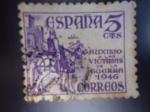 Stamps Spain -  Ed:1062- El Cid - Auxilio a las Victimas de la Guerra 1946.