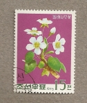 Stamps Asia - North Korea -  Flores