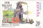 Sellos del Mundo : Europa : España :  Historia de España  -DON PELAYO (722)       (J)