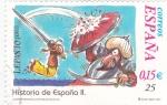 Sellos de Europa - España -  Historia de España  -LEPANTO (1571)       (J)