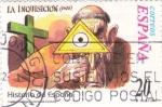 Stamps Spain -  Historia de España  -LA INQUISICIÓN  (1478)     (J)