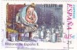 Stamps Spain -  Historia de España  -FELIPE III     (J)