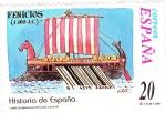 Sellos de Europa - España -  Historia de España  -LOS FENICIOS (1100 a.c.)        (J)