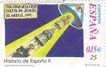 Sellos del Mundo : Europa : España :  Historia de España  -SAN JUAN DE LA CRUZ,TERESA DE JESÚS y EL GRECO (1580)      (J)