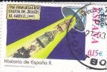 Sellos de Europa - España -  Historia de España  -SAN JUAN DE LA CRUZ,TERESA DE JESÚS y EL GRECO (1580)      (J)