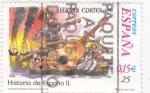 Stamps Spain -  Historia de España  -HERNÁN CORTES (1519)        (J)