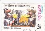 Stamps Spain -  Historia de España  -LAS NAVAS DE TOLOSA  (1212)     (J)
