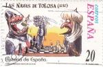 Sellos del Mundo : Europa : España :  Historia de España  -LAS NAVAS DE TOLOSA  (1212)     (J)