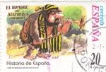 Sellos de Europa - España -  Historia de España  -EL HOMBRE DE ATAPUERCA (800.000 A.C.)         (J)