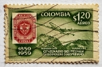 Stamps of the world : Colombia :  Centenario del Primer sello postal Colombiano