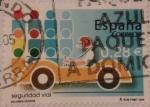 Sellos de Europa - España -  seguridad vial valores civicos 2005