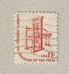 Stamps United States -  derecho a la libertad de prensa