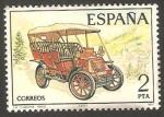 Stamps : Europe : Spain :  2409 - Automóvil antiguo español, La Cuadra de 1900
