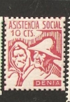 Stamps Spain -  DENIA ASISTENCIA SOCIAL