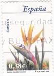 Stamps Spain -  Flora-  AVE DEL PARAÍSO     (J)