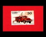 Sellos de America - Cuba -  COCHE DE BOMBEROS