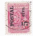 Sellos de America - Ecuador -  Servicio Consular Ecuatoriano