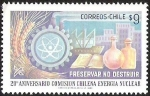 Stamps Chile -  20° ANIVERSARIO COMISION CHILENA ENERGIA NUCLEAR