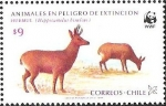 Stamps of the world : Chile :  HUEMUL - ANIMALES EN PELIGRO DE EXTINCION