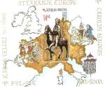 Stamps Croatia -  ESTATUA  DE  CARLO  MAGNO