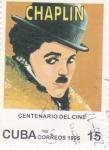Sellos de America - Cuba -  CENTENARIO DEL CINE  - Chaplin