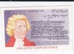 Sellos de America - Cuba -  Grandes compositores- Wolfgang Mozárd
