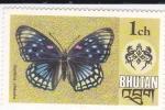 Sellos de Asia - Bhután -  Mariposas- Sephisa chandra