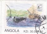 Sellos de Africa - Angola -  Exposición Filatélica -BRAPEX-96