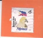 Sellos de Asia - Filipinas -  Bandera Nacional -y aguila