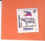 Sellos de Asia - Filipinas -  Bandera Nacional - y (Kalabaw)