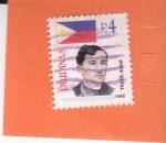 Sellos del Mundo : Asia : Filipinas : Bandera Nacional - y Jose Rizal, médico, escritor y héroe filipino