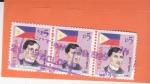 Stamps Philippines -  Bandera Nacional - y Jose Rizal, médico, escritor y héroe filipino