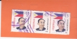 Stamps Philippines -  Bandera Nacional -Apolinario Mabini- escritor y político