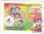 Sellos de Asia - Filipinas -  Visita Papal a las Filipinas-95