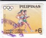 Stamps Philippines -  Centenario de los Juegos Olímpicos Modernos