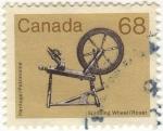 Sellos de America - Canadá -  Spinning Wheel / Rouet