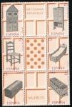 Stamps Spain -  3127/32-  Artesania Española ( Muebles ).