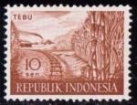 Sellos de Asia - Indonesia -  Caña y tren