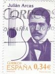 Sellos de Europa - España -  personaje- Julián Arcas, músico       (k)