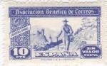 Stamps Europe - Spain -  Asociación Benéfica de Correos-Cartero rural-Sin valor postal-     (k)
