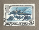Stamps Russia -  Naufragio en el ártico