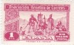Stamps Spain -  Asociación Benéfica de Correos-Comunicación de Hogueras Indias-Sin valor postal-     (k)