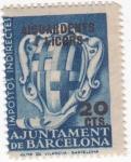 sellos de Europa - España -  Aiguardens i Licors-Impostos indirectes-Ajuntament de Barcelona- SIN VALOR POSTAL   (k)
